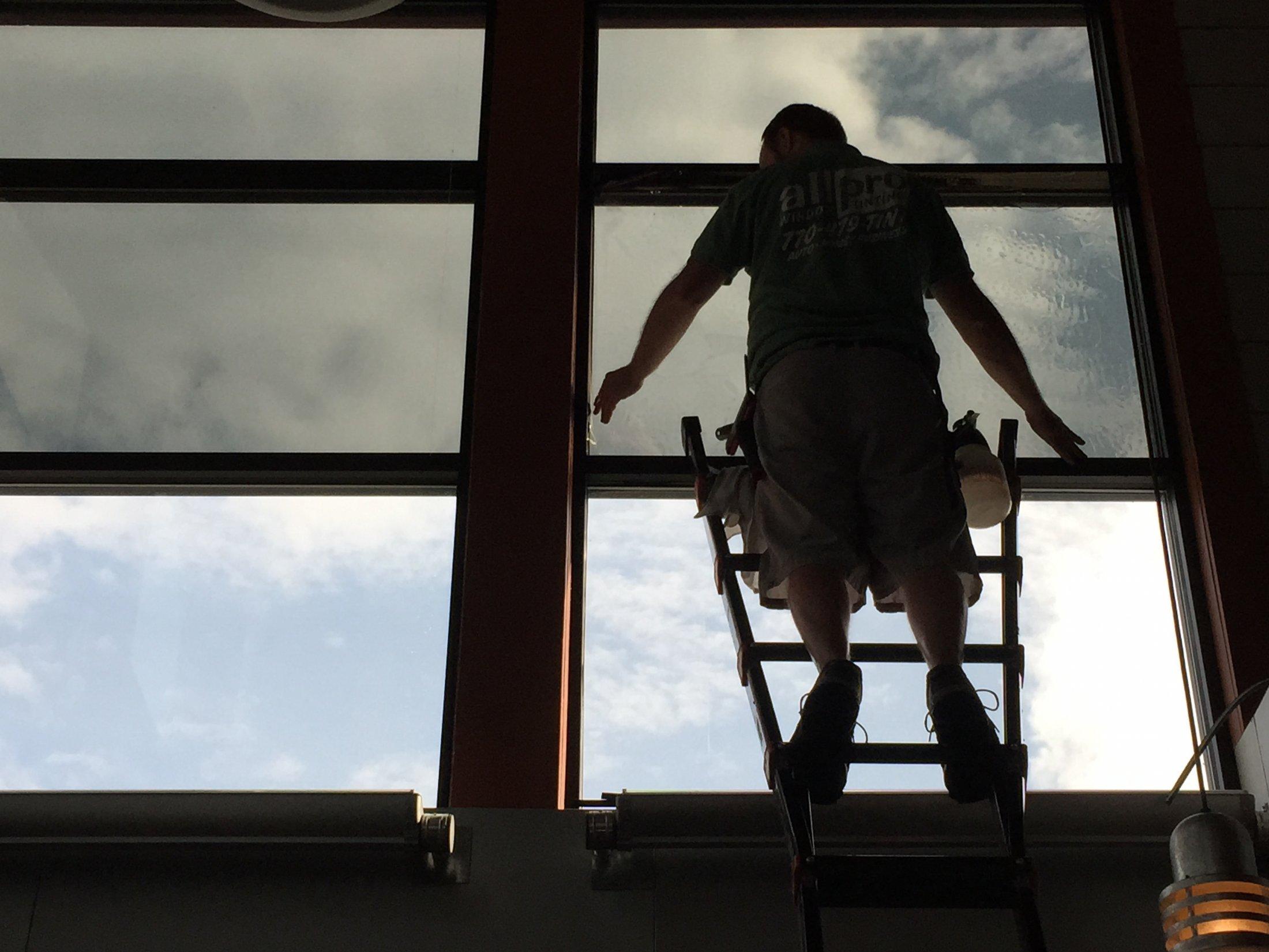 Ladder Work All Pro Window Tinting